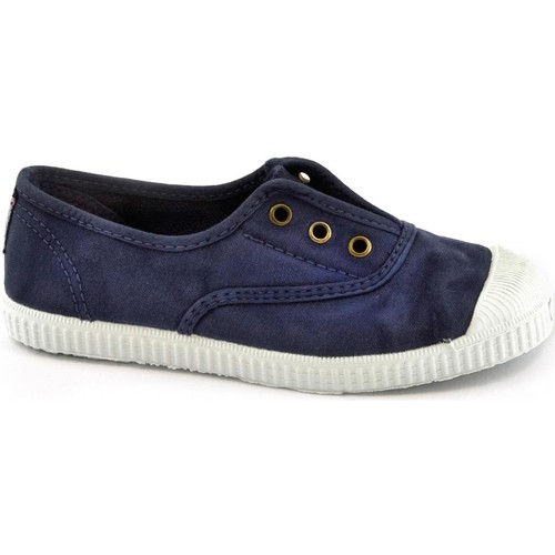 Scarpe Bambino Sneakers basse Cienta blu scarpe Bambino elastico tessuto  slip on Blu