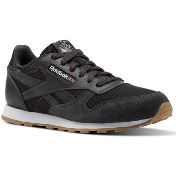 Scarpe Unisex bambino Sneakers basse Reebok Sport CL Leather Estl Nero