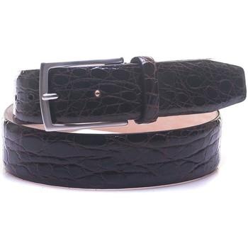 Accessori Uomo Cinture Minoronzoni 1953 Cintura in coccodrillo testa di moro