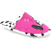 Scarpe Bambina Pantofole Superga pantofole rosa fucsia tessuto AJ742 Rosa