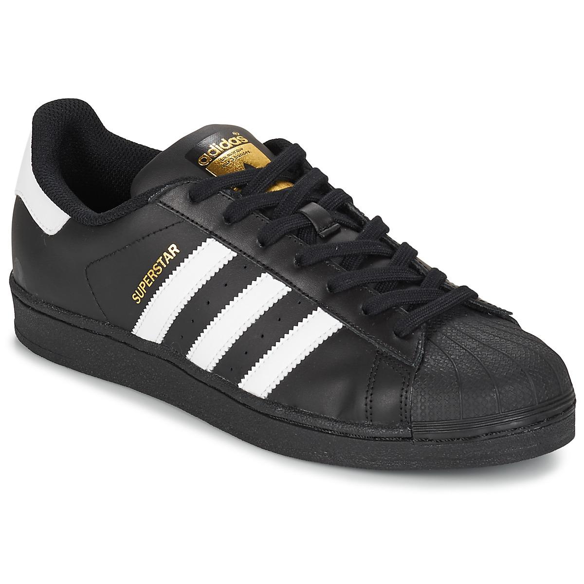 save off 7ed8a 89191 Scarpe Uomo Sneakers basse adidas Originals SUPERSTAR FOUNDATION Bianco   Nero