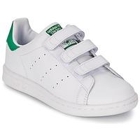 Scarpe Bambino Sneakers basse adidas Originals STAN SMITH CF C Bianco / Verde