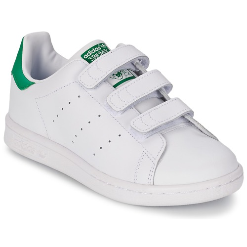 best value 917aa 1ac3f Scarpe Unisex bambino Sneakers basse adidas Originals STAN SMITH CF C  Bianco   Verde