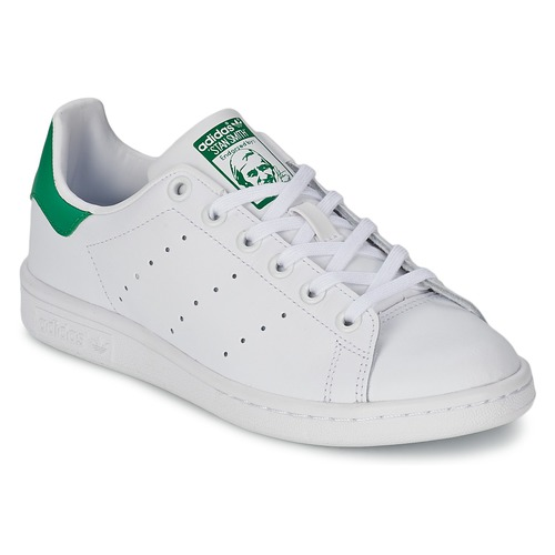 low priced 924a0 2b694 Scarpe Unisex bambino Sneakers basse adidas Originals STAN SMITH J Bianco    Verde