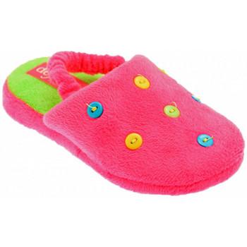 Scarpe Unisex bambino Pantofole De Fonseca Button Art Pantofole fuxia
