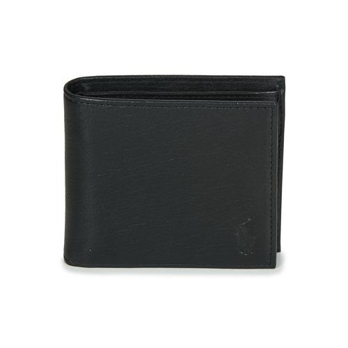 Borse Uomo Portafogli Polo Ralph Lauren EU BILL W/ C-WALLET-SMOOTH LEATHER Nero