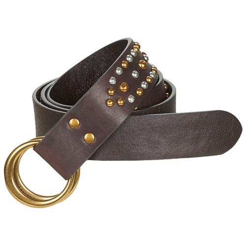 Accessori Donna Cinture Polo Ralph Lauren DOUBLE O RING Marrone