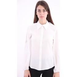 Abbigliamento Donna Camicie Solotre CAMICIA IN SETA BIANCA White