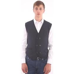 Abbigliamento Uomo Gilet / Cardigan Altea GILET BLU - GRIGIO Blue