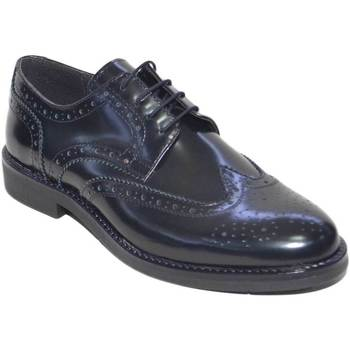 Scarpe Uomo Derby Malu Shoes Calzature uomo francesina stringata abrasivato nero fondo antisc NERO