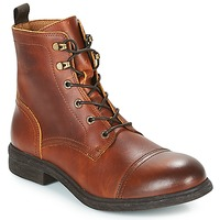Scarpe Uomo Stivaletti Selected TERREL LEATHER BOOT Cognac