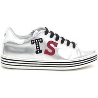 Scarpe Bambina Sneakers basse Twin Set bambina, HS88B1, scarpe pelle argento sneakers E8102 0