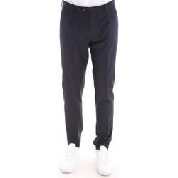 Abbigliamento Uomo Pantaloni Berwich PANTALONE  BLU SCURO CON PINCES Blue