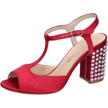 Scarpe Donna Sandali Lella Baldi sandali rosso raso strass AH826 Rosso