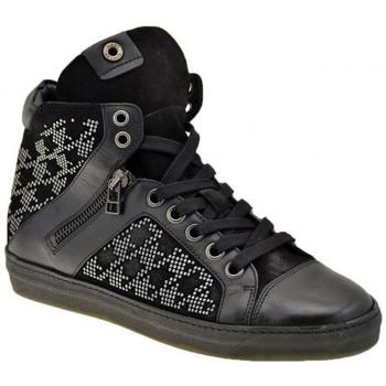 Scarpe Donna Sneakers alte Janet&Janet Mid Zip Sportive alte nero