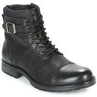 Scarpe Uomo Stivaletti Jack & Jones ALBANY LEATHER Nero