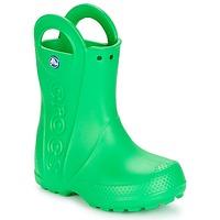 Scarpe Unisex bambino Stivali da pioggia Crocs HANDLE IT RAIN BOOT KIDS Verde