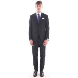 Abbigliamento Uomo Completi Cantarelli ABITO  NERO IN PURA LANA VERGINE Black
