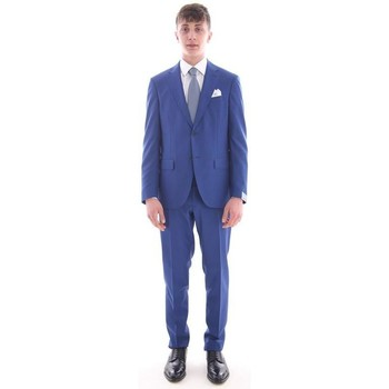 Abbigliamento Uomo Completi Cantarelli ABITO  BLU ROYAL IN PURA LANA VERGINE Blue
