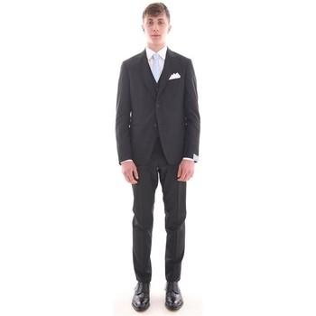 Abbigliamento Uomo Completi Cantarelli ABITO  NERO CON GILET Black