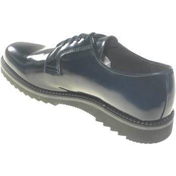 Scarpe Uomo Derby Made In Italia scarpe uomo stringate vera pelle abrasivato blu  f BLU
