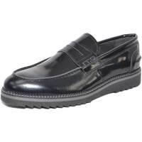 Scarpe Uomo Mocassini Made In Italia scarpe uomo mocassino bendina vera pelle lucido abrasivato made NERO