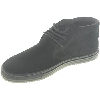 Scarpe Uomo Stivaletti Made In Italia scarpe uomo vera pelle scamosciata a 3 buchi fondo antiscivolo NERO