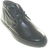 Scarpe Uomo Stivaletti Made In Italia scarpe uomo polacchini nero in vera pelle di vitello made in it NERO