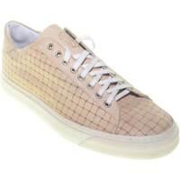 Scarpe Uomo Sneakers basse Made In Italy scarpe uomo sneakers bulldog in vera pelle cuoio intrecciato fon CUOIO