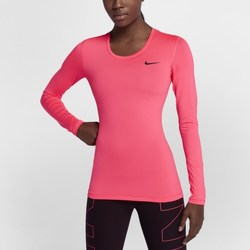 Abbigliamento Donna T-shirts a maniche lunghe Nike Pro Longsleeve Training Top Racer Pink Rosa