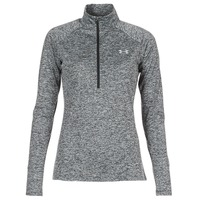 Abbigliamento Donna T-shirts a maniche lunghe Under Armour TECH 1/2 ZIP TWIST Nero