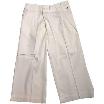 Abbigliamento Bambino Pantaloni morbidi / Pantaloni alla zuava Twin Set Girl Junior GS82QQ Pantaloni Bambina Bianco Bianco