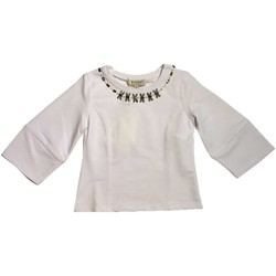 Abbigliamento Bambina T-shirts a maniche lunghe Twin Set Girl Junior GS823A Felpa Bambina Bianco Bianco