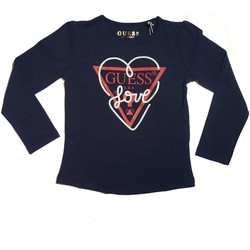 Abbigliamento Bambina T-shirts a maniche lunghe Guess K81I07J1300 T-shirt Bambina Blu Blu