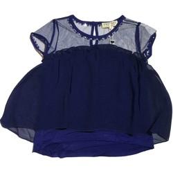 Abbigliamento Bambina Abiti corti Twin Set Girl Junior GS82B2 1 Maglia Bambina Blu Blu