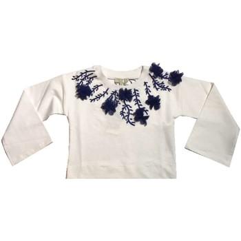 Abbigliamento Bambina Felpe Twin Set Girl Junior GS82JA Felpa Bambina Bianco Bianco