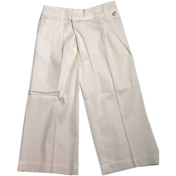 Abbigliamento Unisex bambino Pantaloni morbidi / Pantaloni alla zuava Twin Set GS82QQ 1 Pantaloni Bambina Bianco Bianco