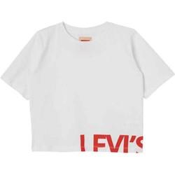 Abbigliamento Bambina T-shirt maniche corte Levi's Junior NL10657 T-shirt Bambina Bianco Bianco