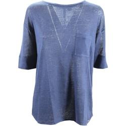 Abbigliamento Donna T-shirts a maniche lunghe Woolrich WWTEE1120 T-shirt Donna Blu Blu
