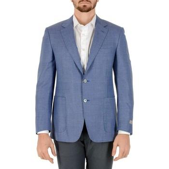 Abbigliamento Uomo Giacche / Blazer Canali CANALI BLAZER UOMO CU00381401          AZZURRO