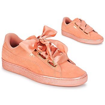Scarpe Donna Sneakers basse Puma WN SUEDE HEART SATIN.DUSTY Arancio