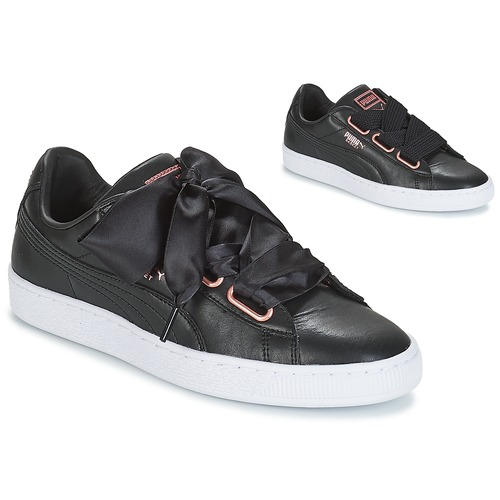 093206f986 ... clearance scarpe donna sneakers basse puma wn suede heart leather.bla  black 7be58 765be