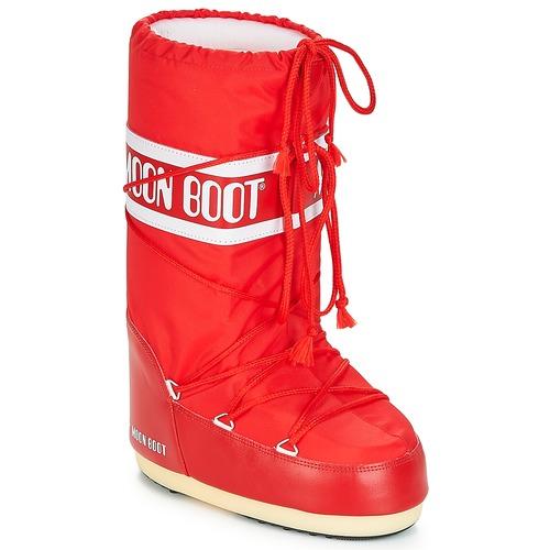Moon Boot NYLON Rosso  Scarpe Stivali da neve Donna 85
