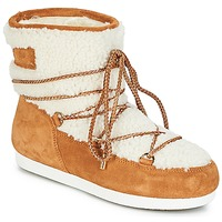 Scarpe Donna Stivali da neve Moon Boot FAR SIDE LOW SHEARLING Cognac / Bianco