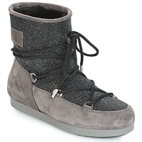 Scarpe Donna Stivali da neve Moon Boot FAR SIDE LOW SUEDE GLITTER Nero / Grigio