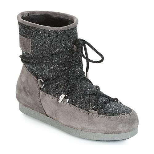Moon Boot FAR SIDE LOW SUEDE GLITTER Nero / Grigio  Scarpe Stivali da neve Donna 199,90