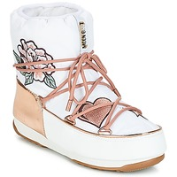 Scarpe Donna Stivali da neve Moon Boot PEACE & LOVE WP Bianco / Rosa / Oro