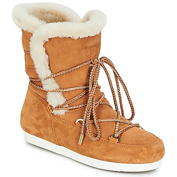 Scarpe Donna Stivali da neve Moon Boot FAR SIDE HIGH SHEARLING Cognac / Bianco