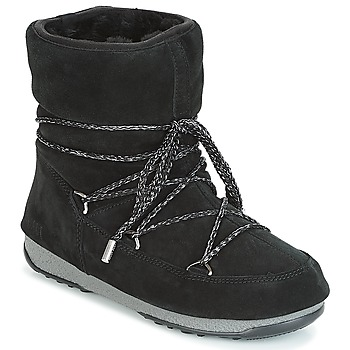 Scarpe Donna Stivali da neve Moon Boot LOW SUEDE WP Nero