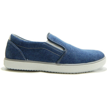 Scarpe Uomo Slip on Imac 103152 Scarpe Uomo Mocassini Slip On Canvas Jeans Blu BLU